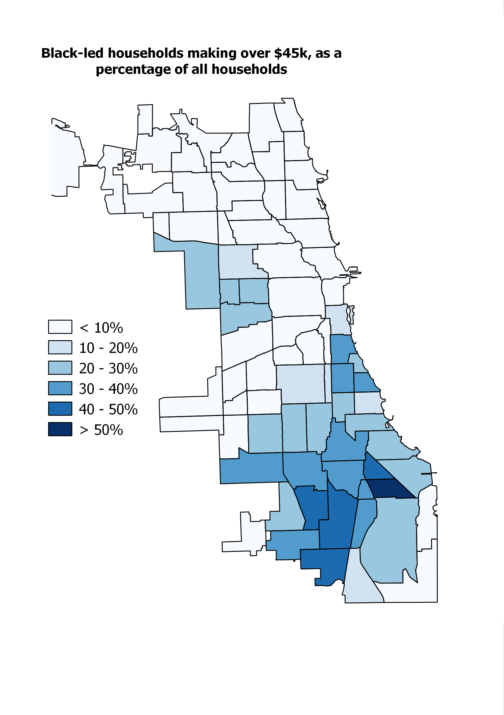 Where Does Chicagos Black Middle Class Live  City Notes - Chicago il map neighborhoods