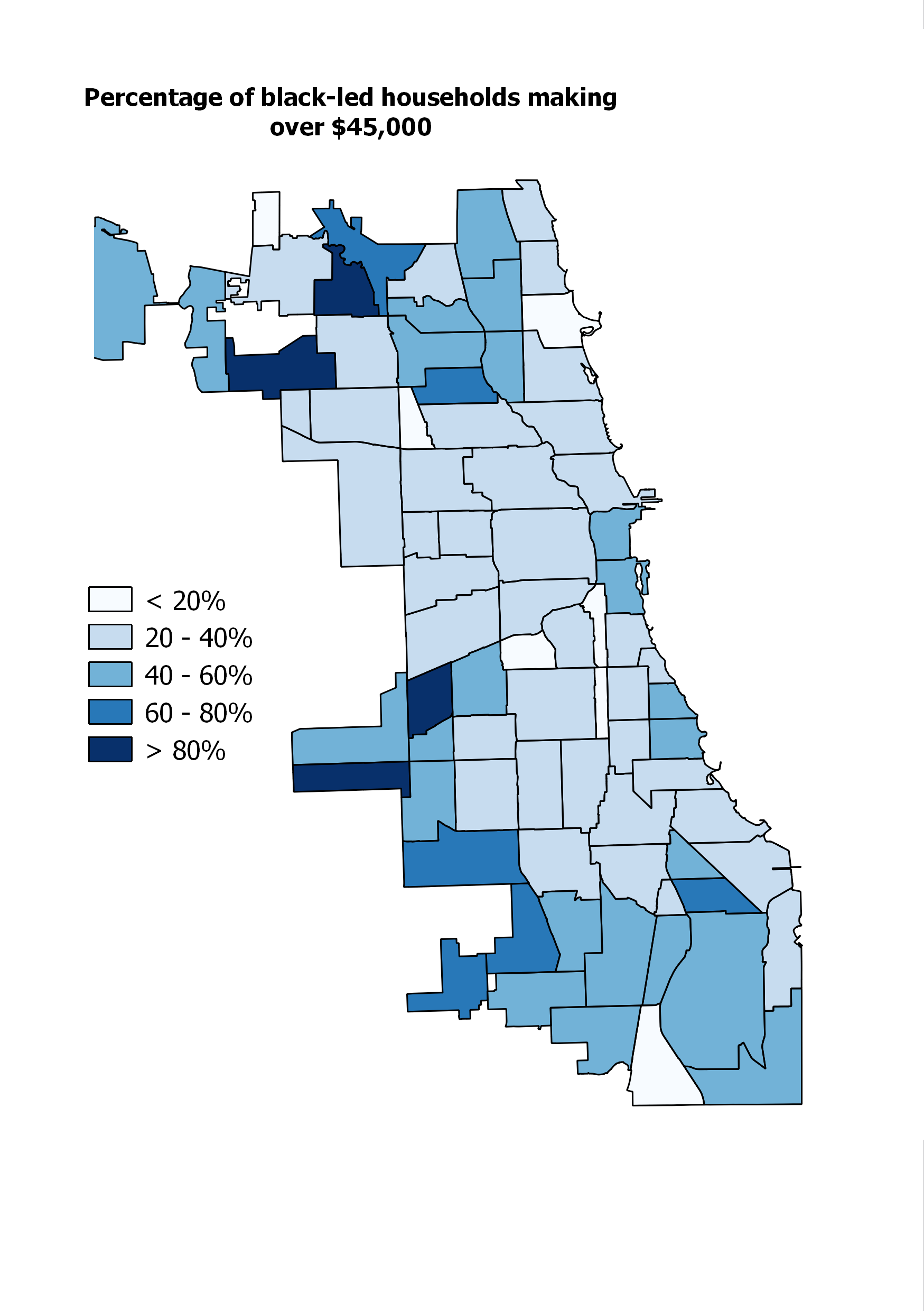 Where Does Chicagos Black Middle Class Live  City Notes - Chicago illinois map of suburbs