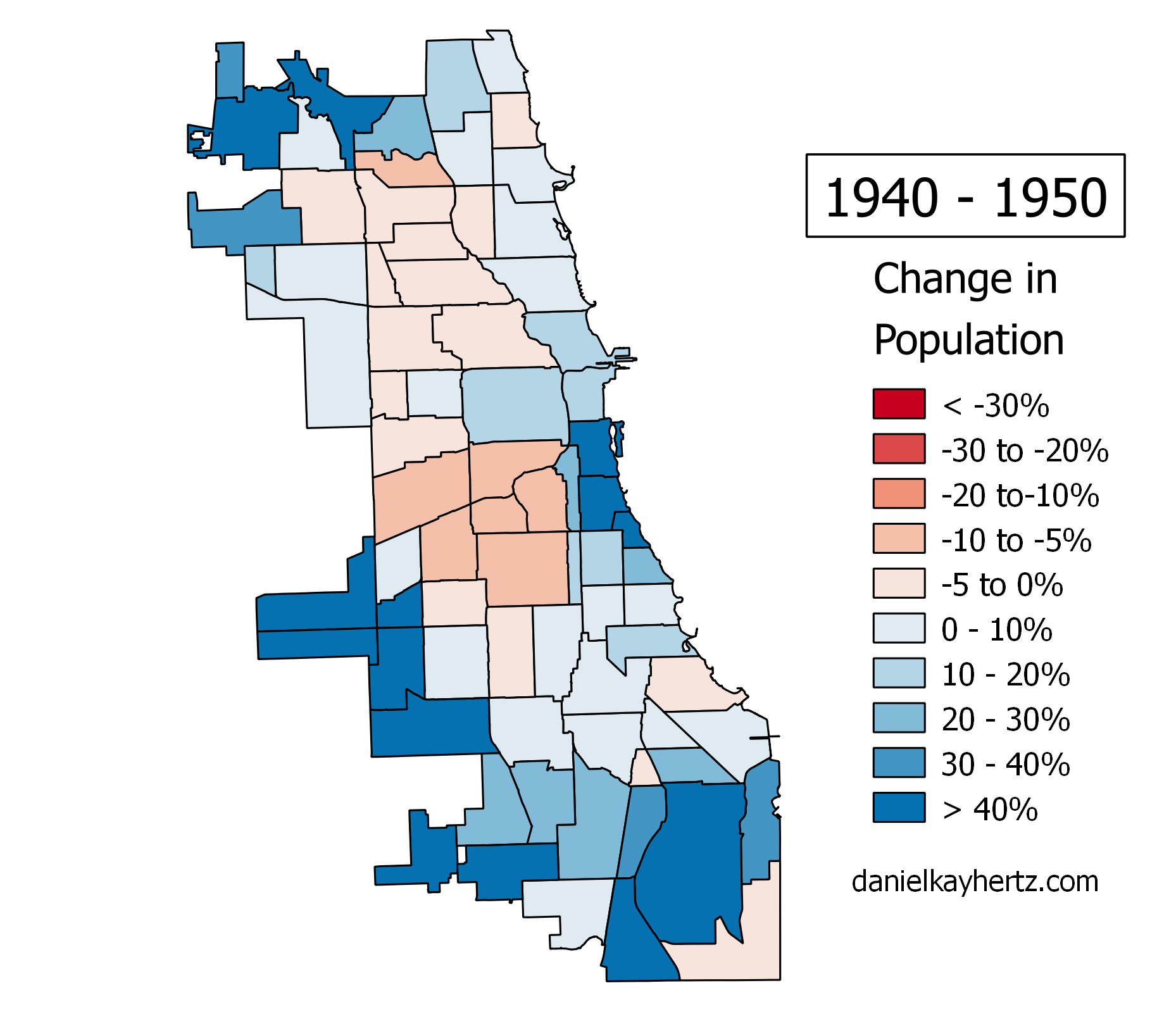 Eighty Years Of Chicagos Population Annotated  City Notes - Chicago map south loop