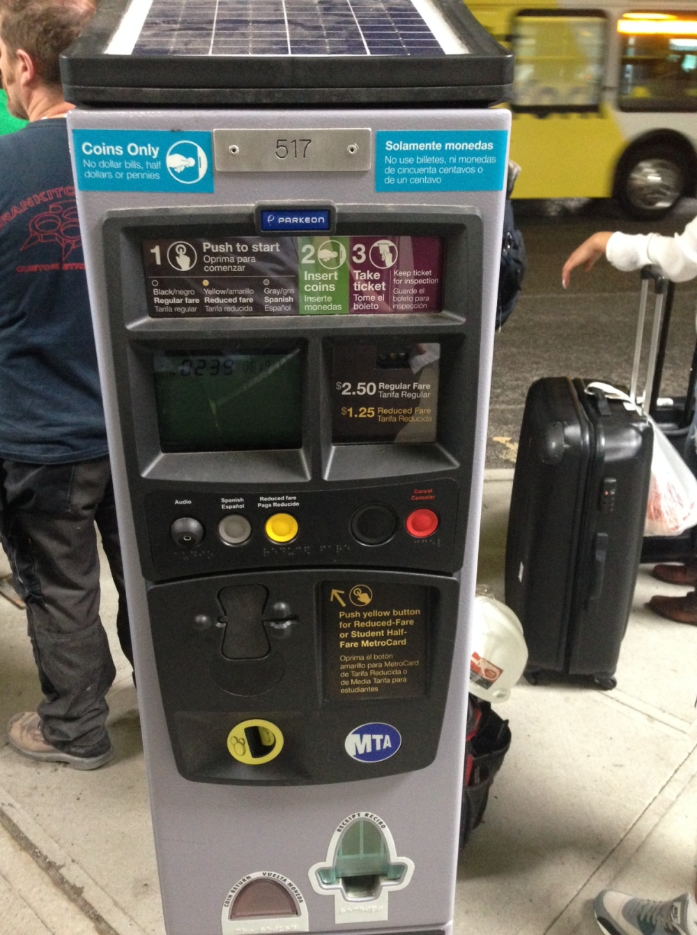 This is a pre-pay bus kiosk in New York.