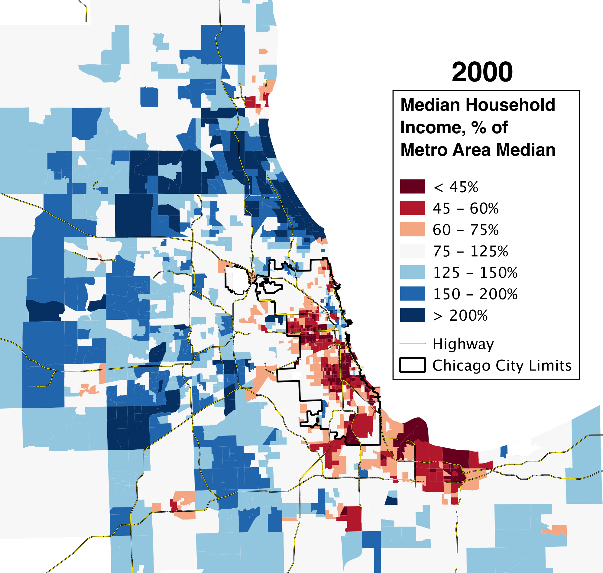 Chicago's Growing Income Donut – Daniel Kay Hertz on chicago geographic map, chicago population graph, cps schools map, chicago area demographics, chicago racial demographics, chicago economy map, chicago demographics by neighborhood, chicago global map, chicago population 2013, u.s. population by state map, chicago designated market area map, chicago community map, chicago race map, chicago economic map, chicago race demographics, chicago socioeconomic map, houston demographics map, chicago neighborhood map, chicago demographics religion, great migration african americans map,