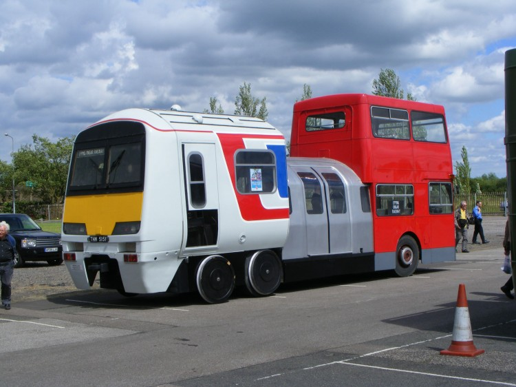 "This is what you find when you Google ""bus train."""