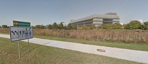 Who could say no to working here? Naperville, Illinois. Forgive my urban snobbery.