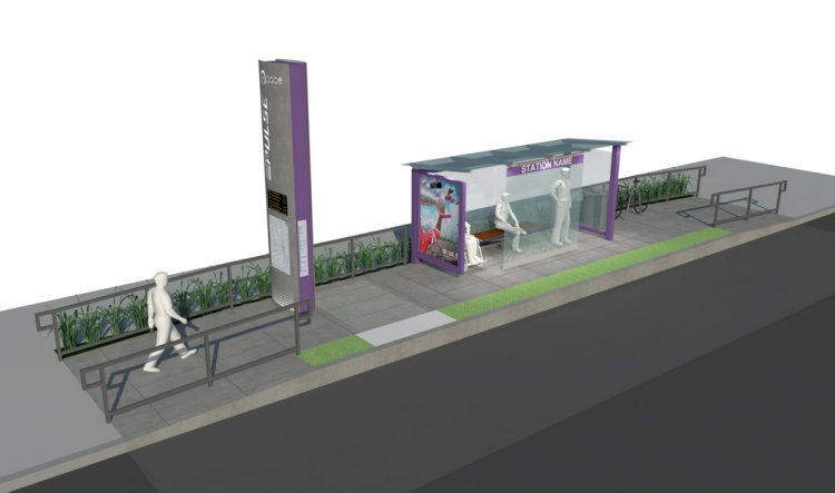 Rendering of a Pulse station.