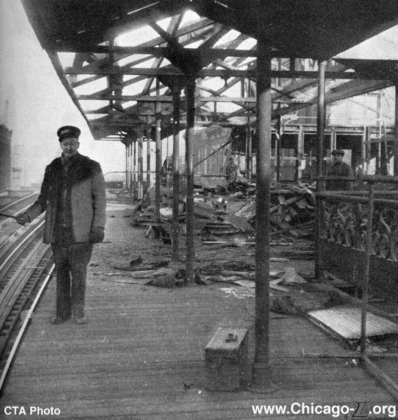 Damen/Lake CTA station in 1949